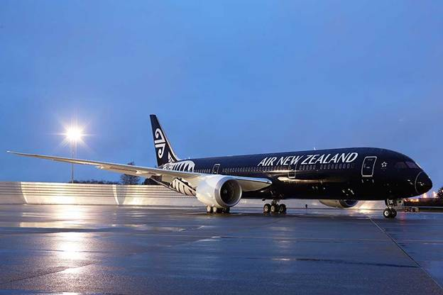 The Dark Knight rises: Air New Zealand's fleet of black planes ready for liftoff.