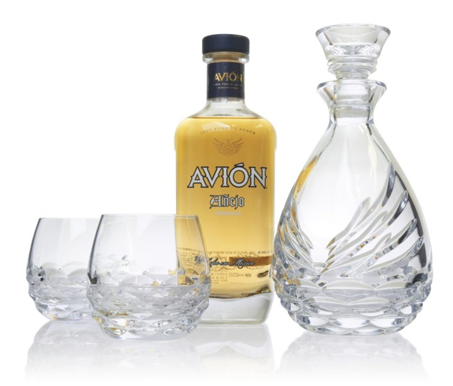 "Tequila Avión And Waterford Partner To Launch The ""Avión Collection"" Crystal Sipping Decanter Gift Set"